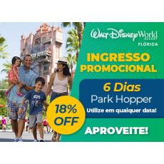 Ingresso Promocional: Disney 6 dias Park Hopper exclusivo para Residentes no Brasil
